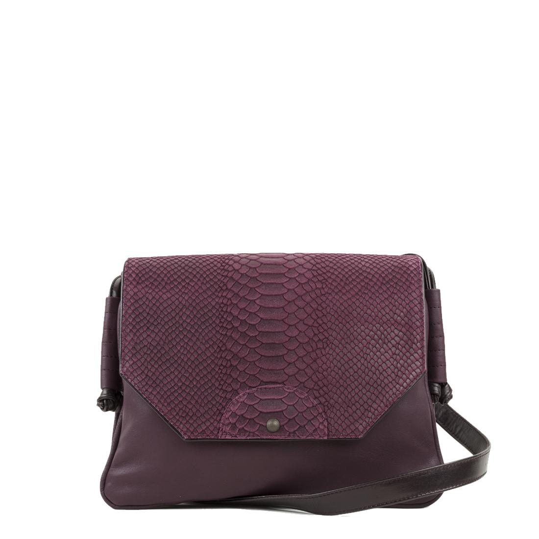Annie Plum Anaconda Satchel Bag