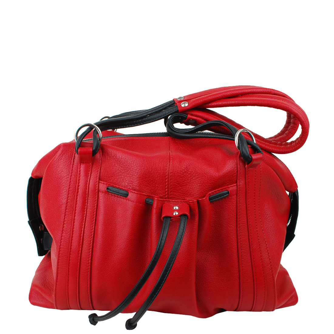 Flight Red Leather  Tote Bag
