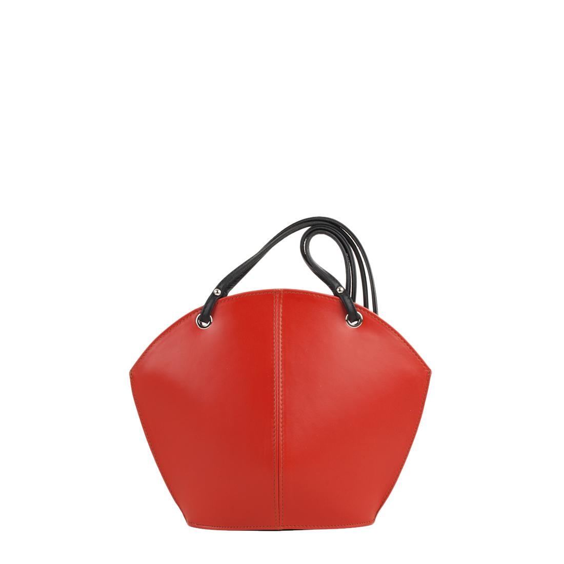Ava Orange Leather Shoulder Bag