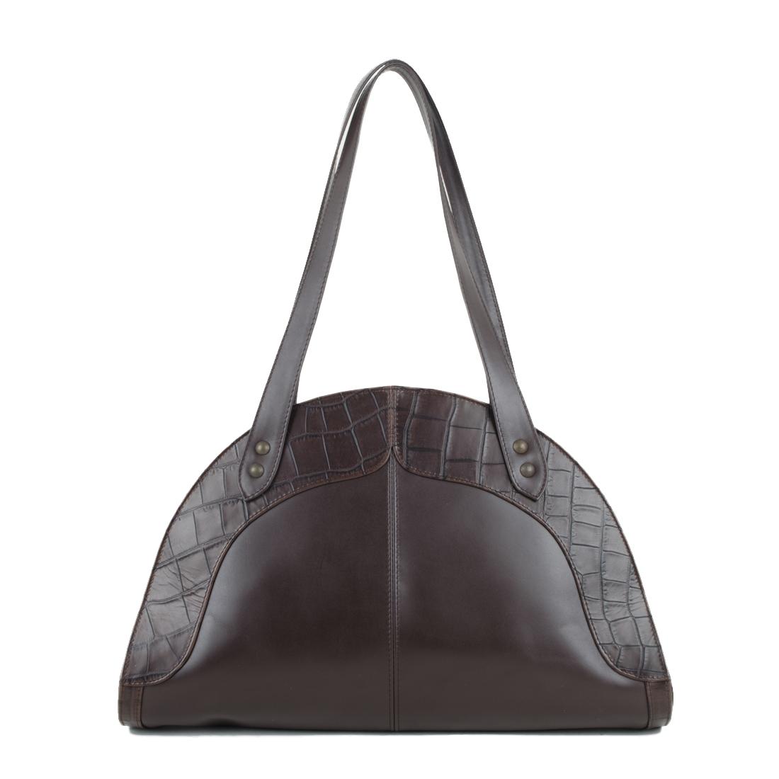 Edie Brown Leather Shoulder Bag