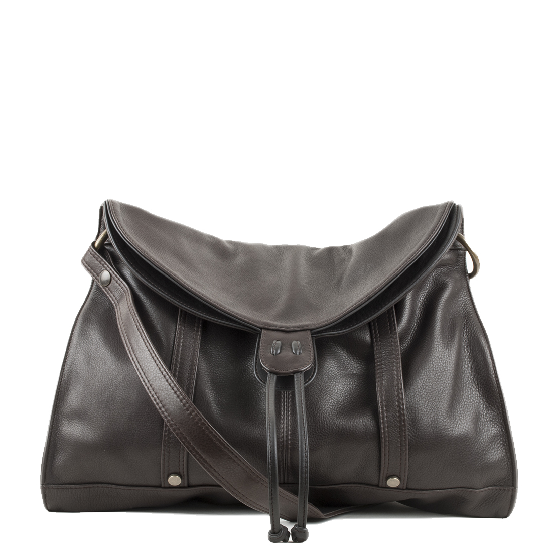 Esther Brown Leather Shouler Bag