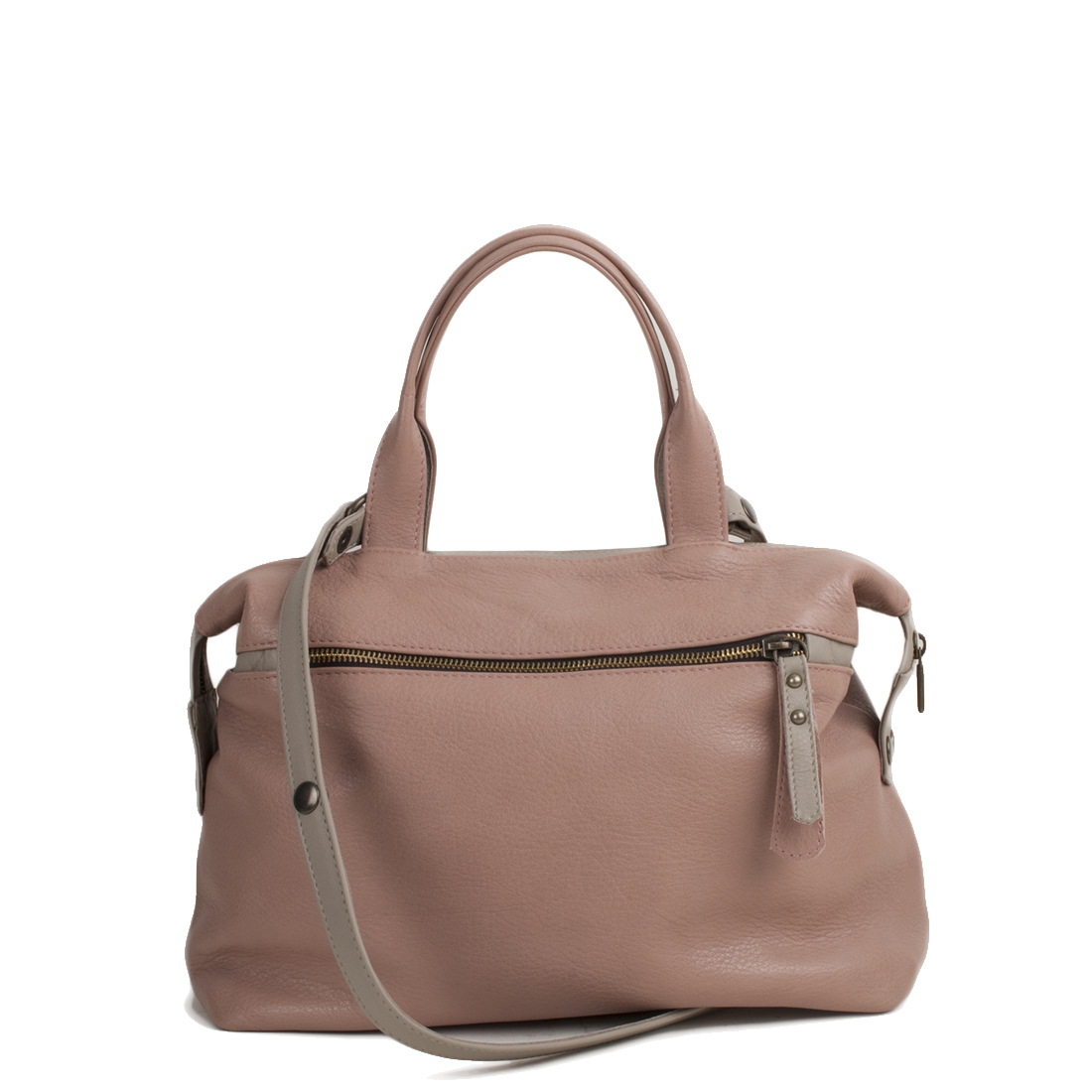 Grace Pink Chalk Leather Tote Bag