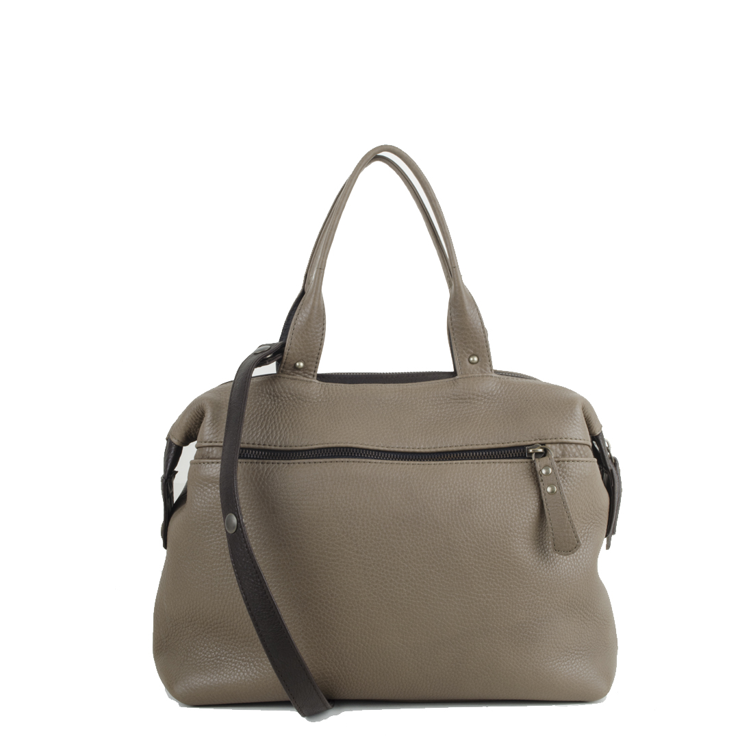 Grace Taupe Leather Tote Bag