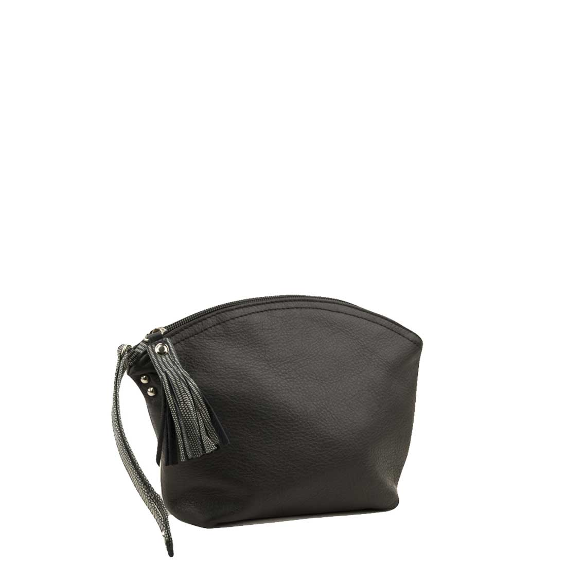 Wrist bag in black