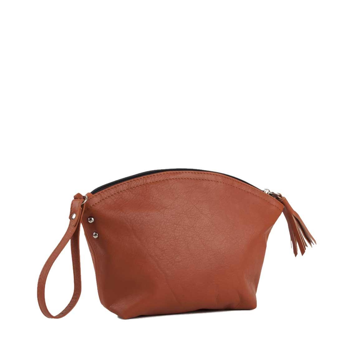 Wrist Bag In Zucca Leather