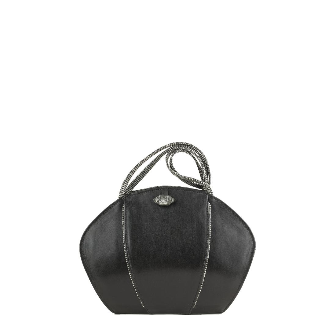 Lola Black Leather Shoulder Bag