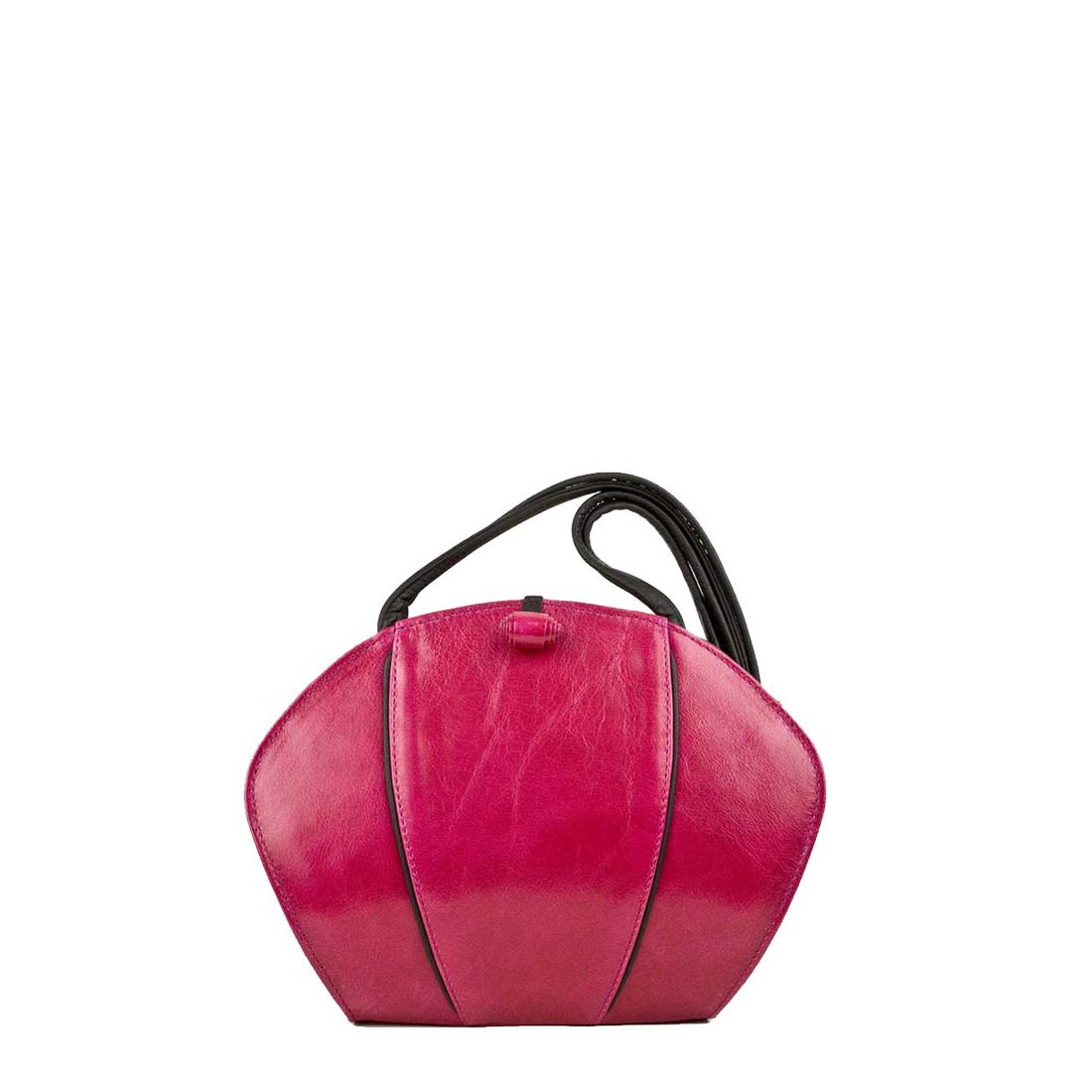 Lola Fuchsia Leather Shoulder Bag