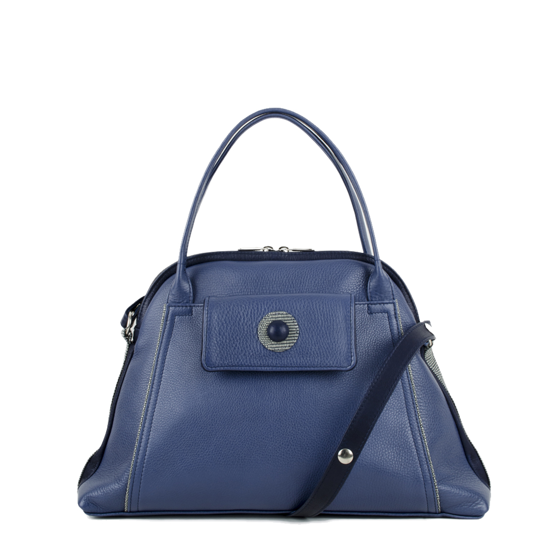 Lottie Chalk Blue Leather Shoulder Bag