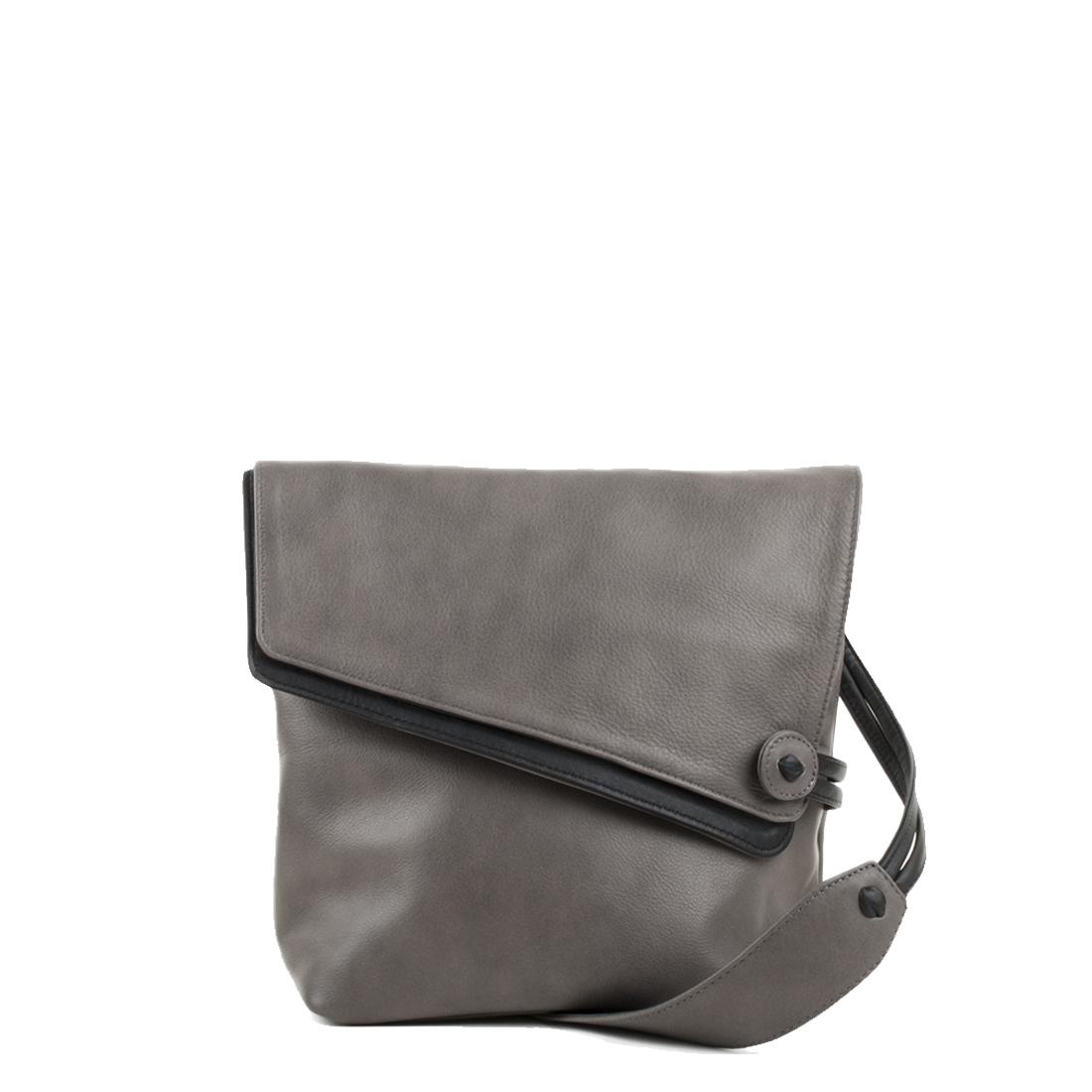 Louise Grigio Across Body Leather Bag