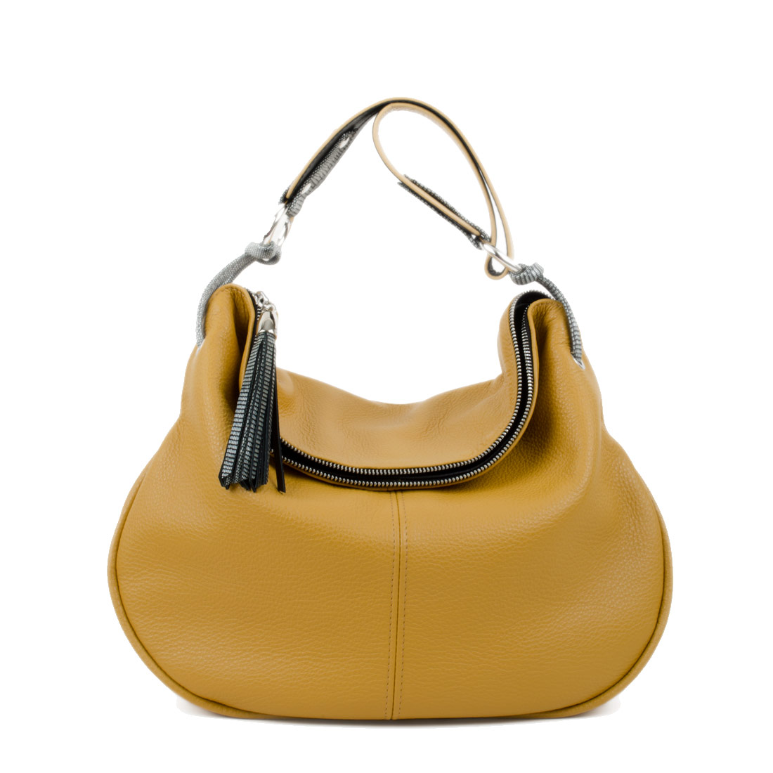Matilda Yellow Leather Shoulder Bag