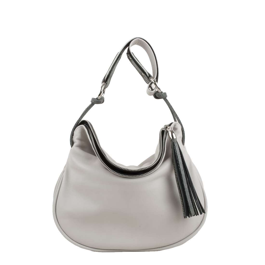 Milly Polvere Leather Shoulder Bag