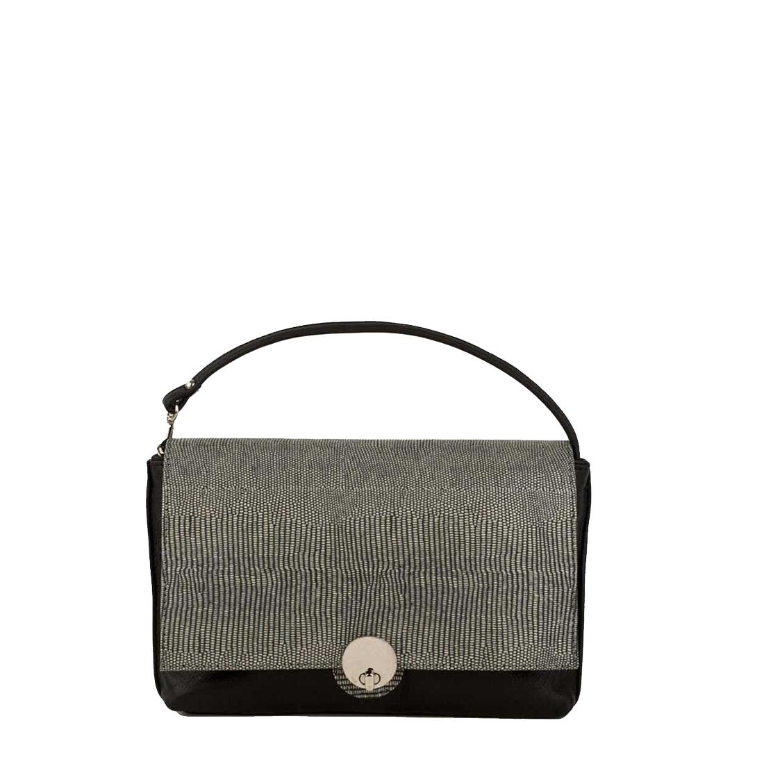 Riley Black Clutch Leather Handbag