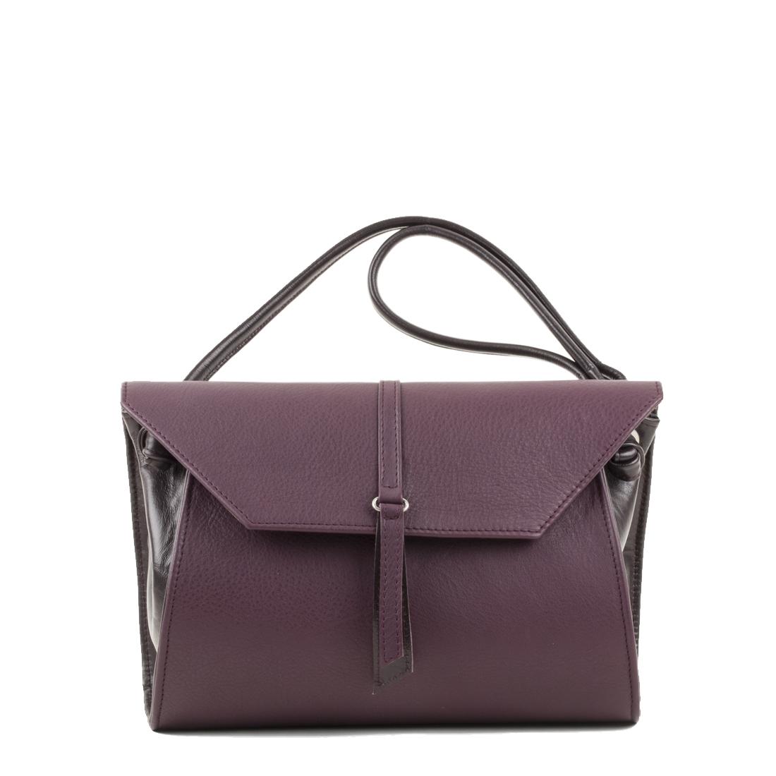 Rosa Plum Leather Shoulder Bag
