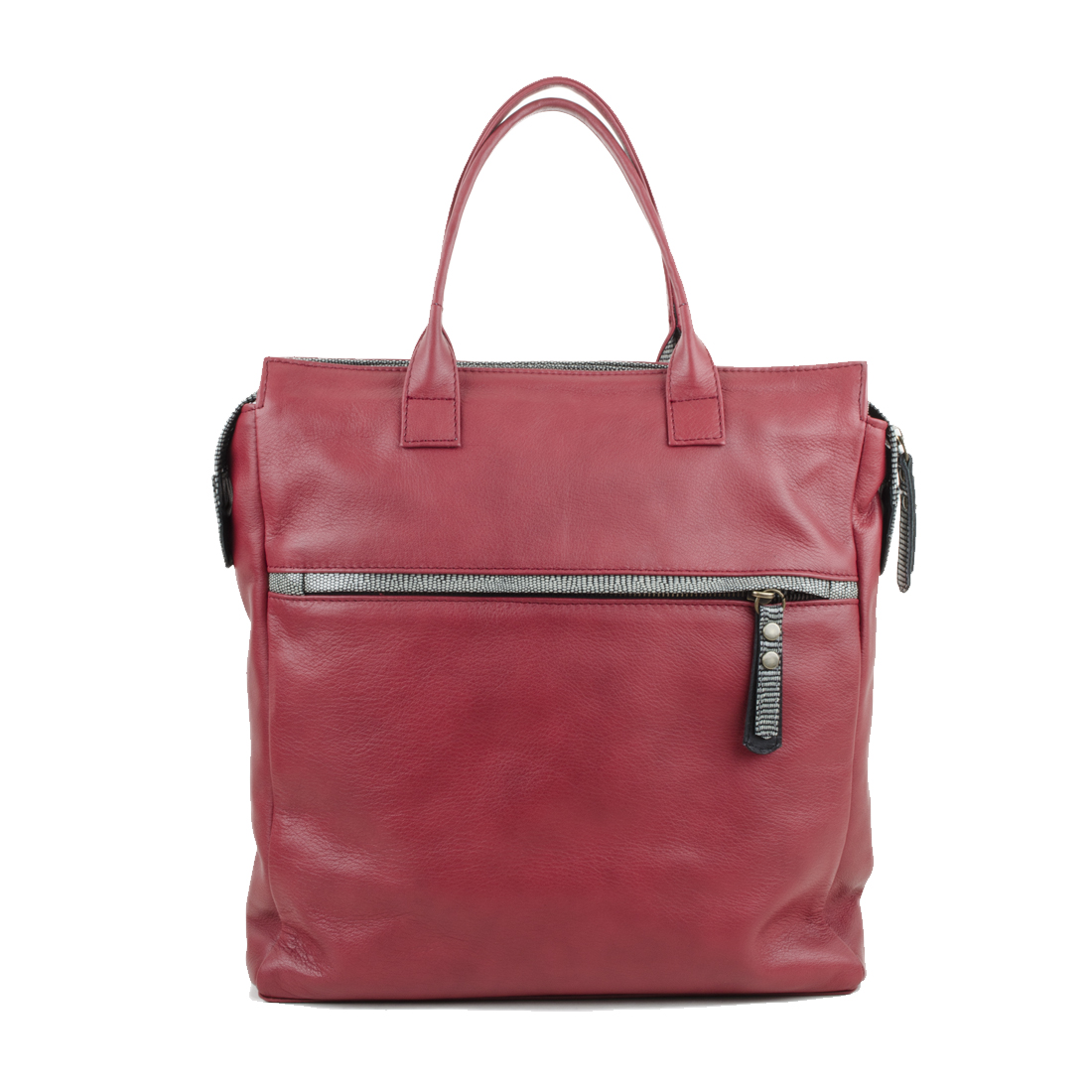 Sara Red Leather Backpack