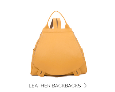 home LEATHERbackpackdahlia yellow