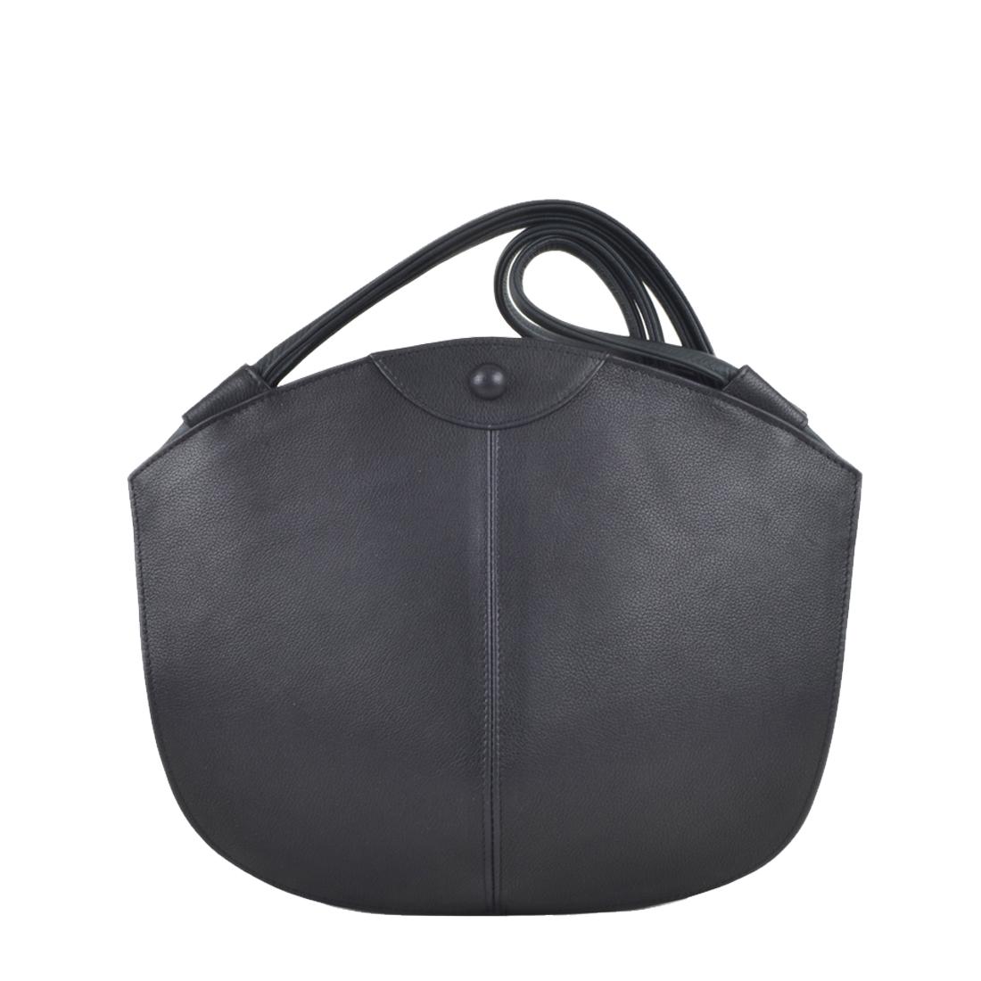 Carmen Black Leather Shoulder Bag