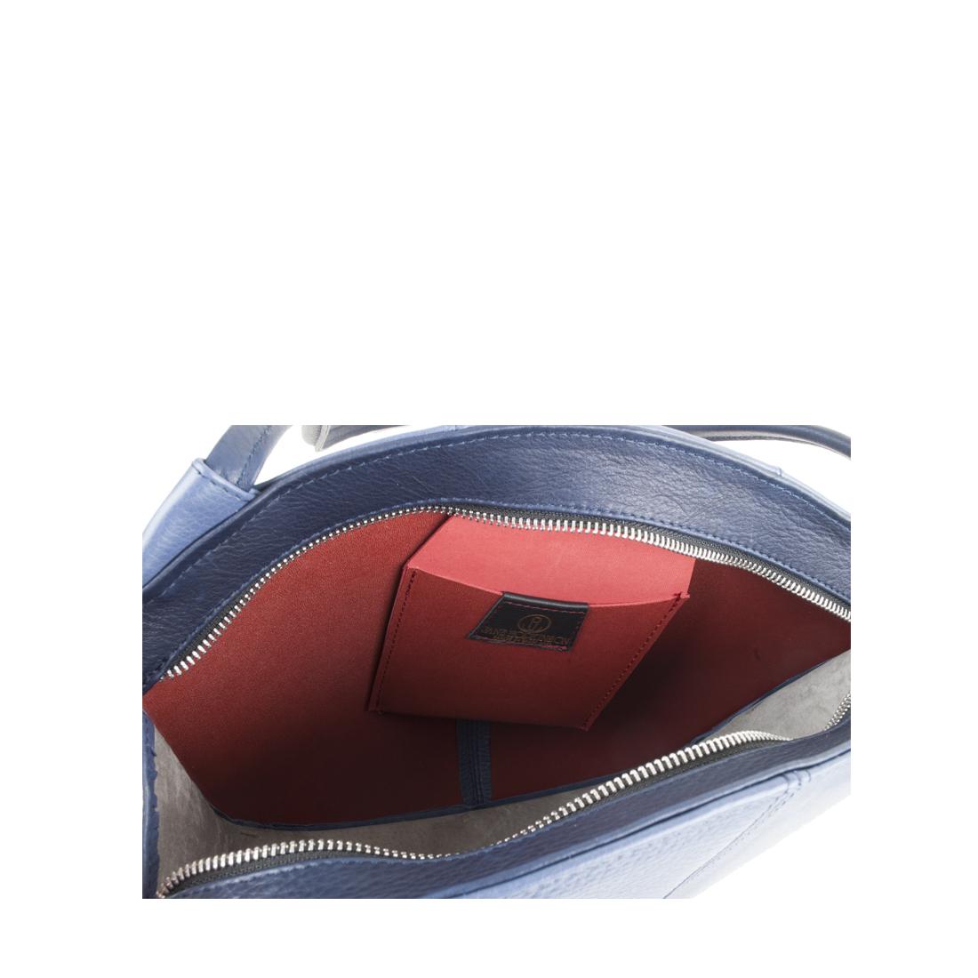 Carmen Chalk Blue Leather Shoulder Bag