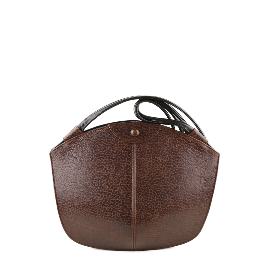 Carmen Dark Brown Leather Shoulder Bag