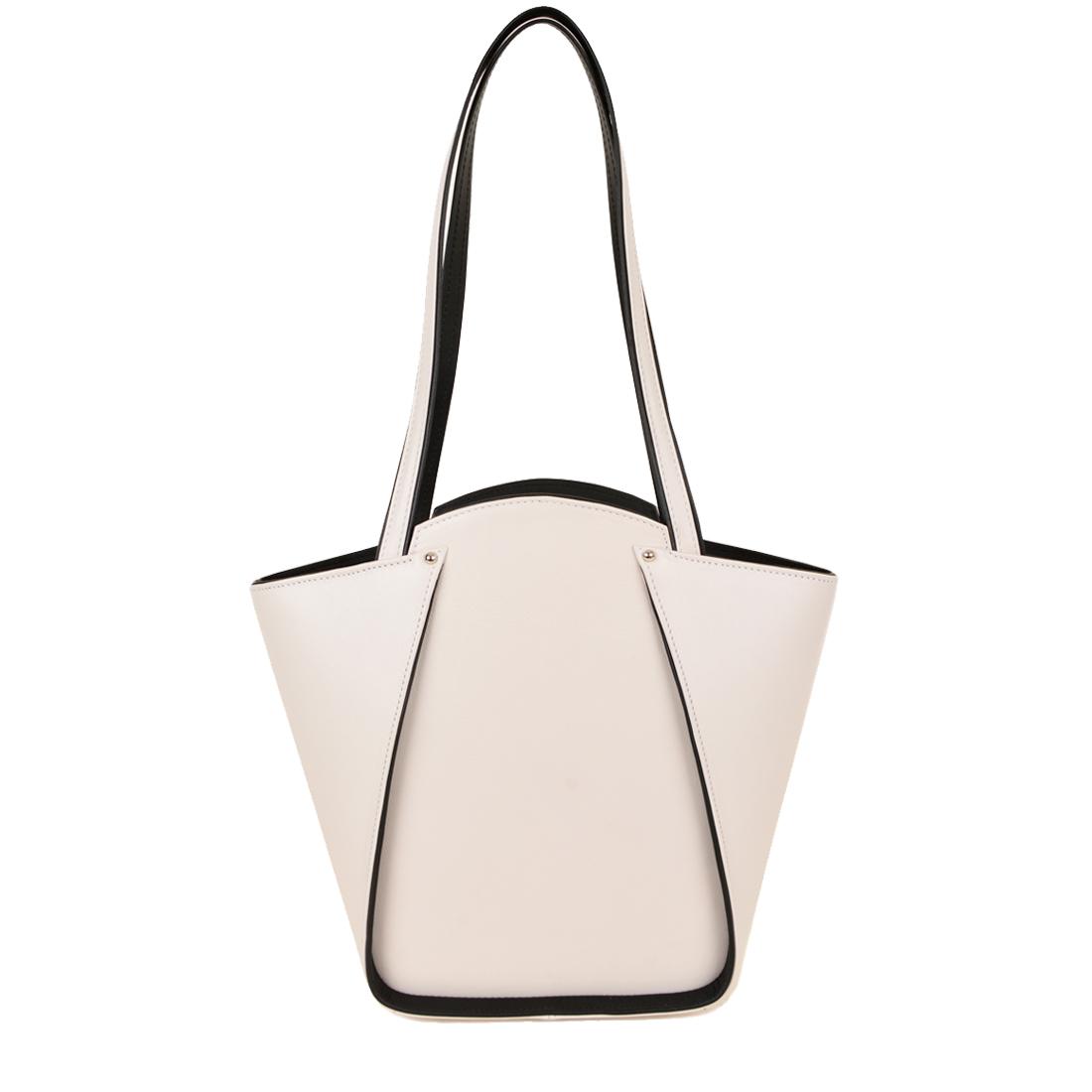Greta Polvere Structured Leather Shoulder Bag