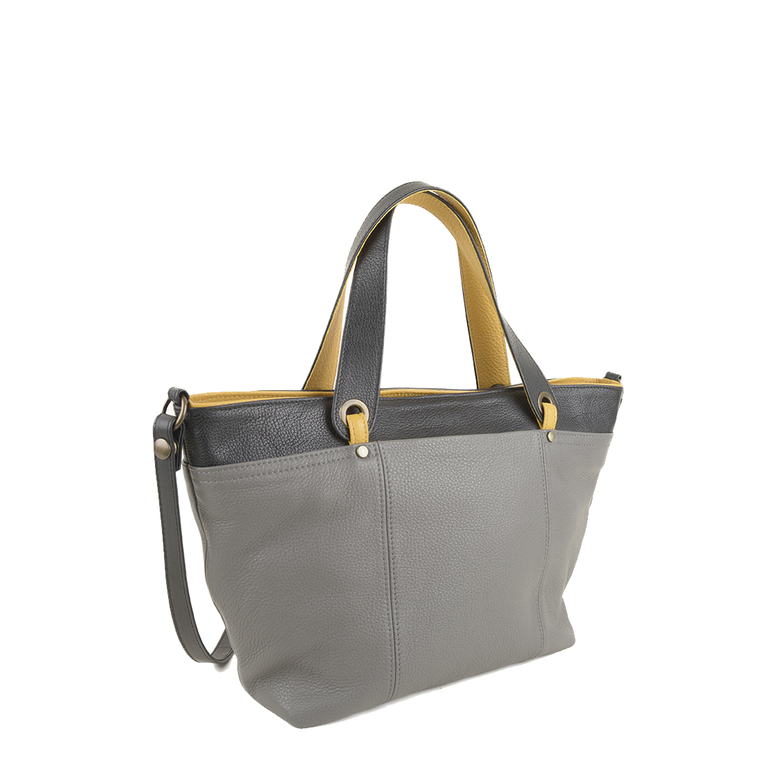 Lucy Gull Mustard Leather Tote Bag