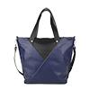 Amanda Blue Leather Tote Bag