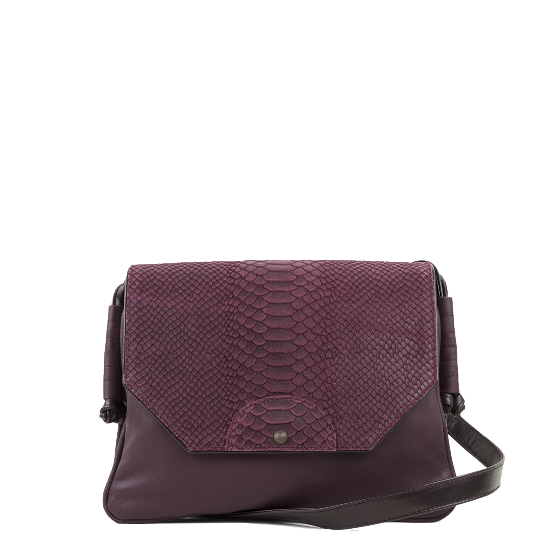 Annie Plum Anaconda Satchel Bag