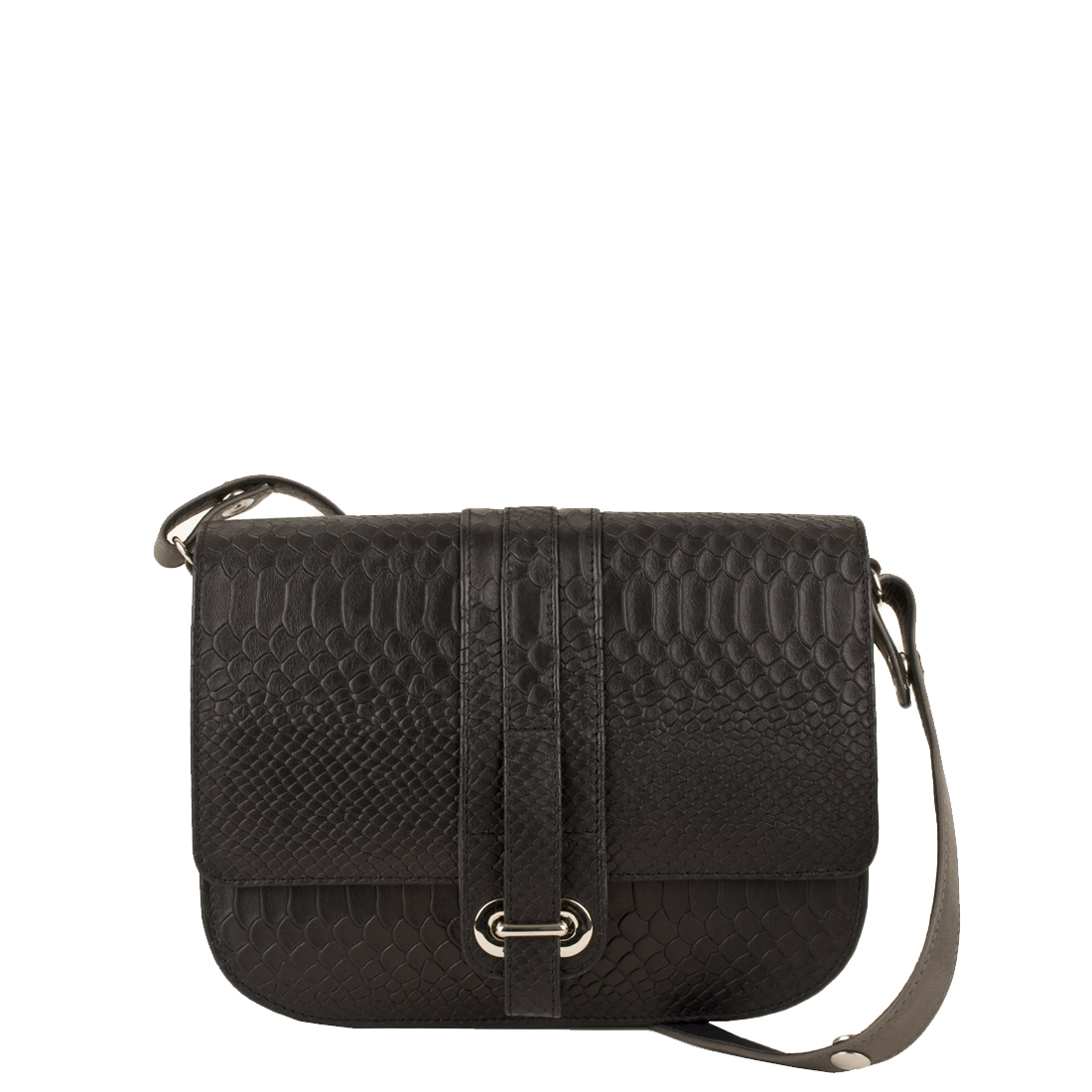 Ella Black Leather Across Body Bag