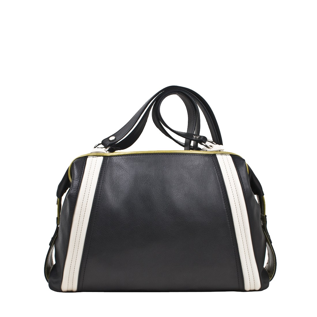 Roxy Black Leather Tote Bag