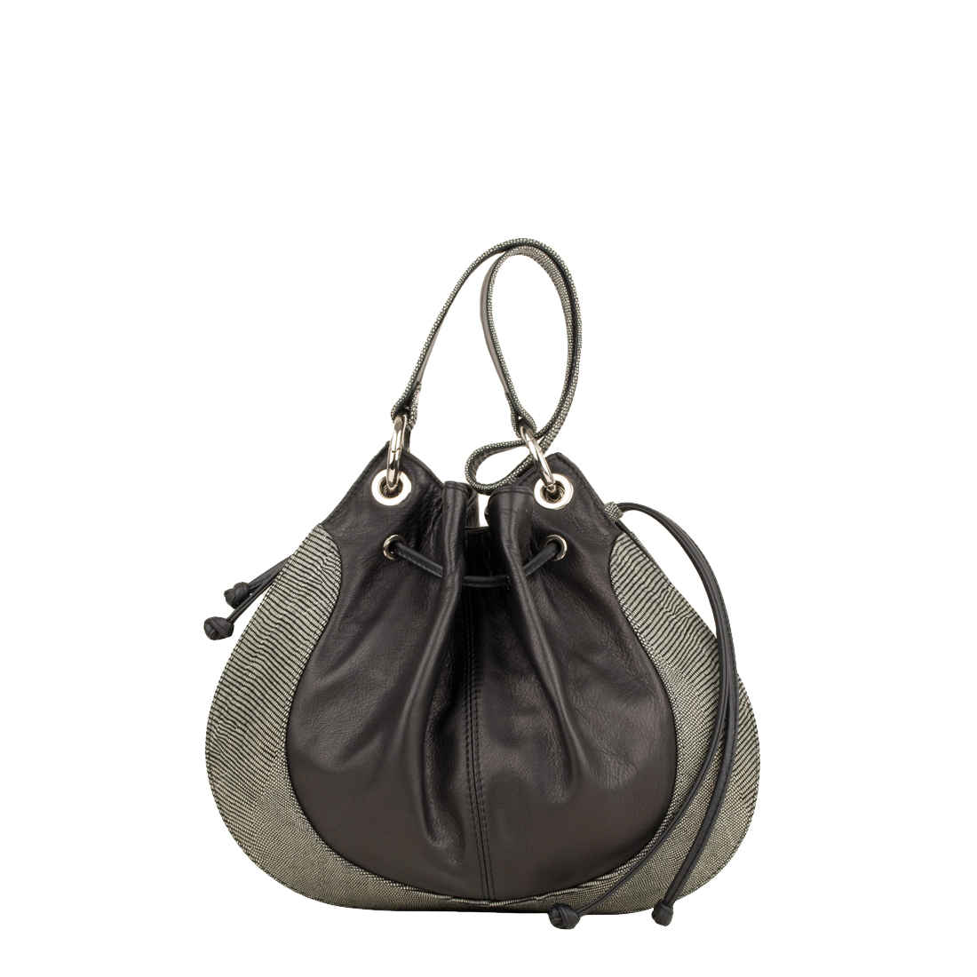 Small Betty Black Leather Shoulder Bag