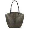 Audrey Olive Snake Print Shoulder Bag