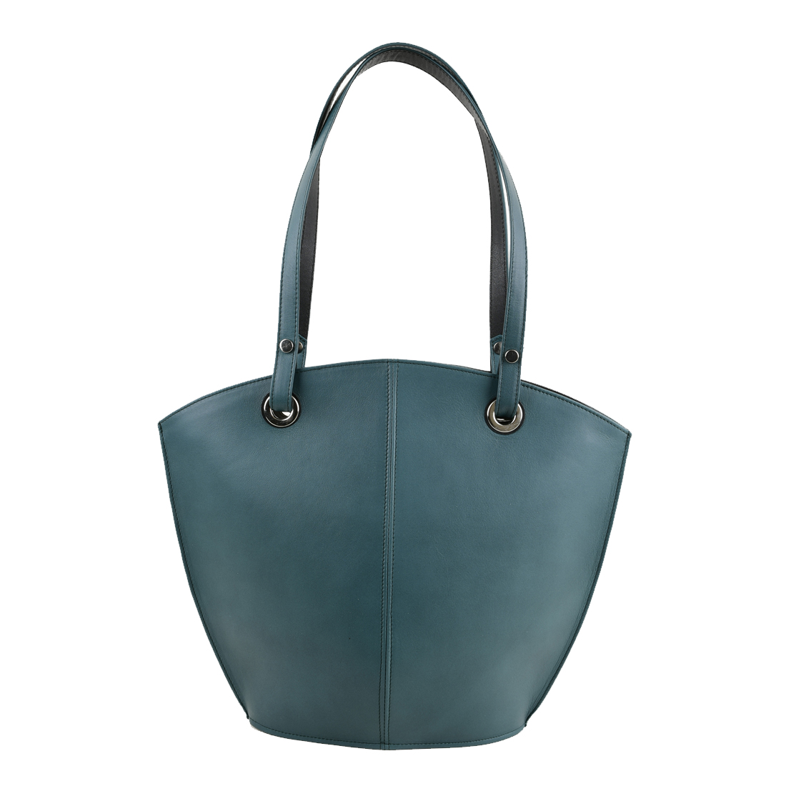 Audrey Teal Leather Shoulder Bag