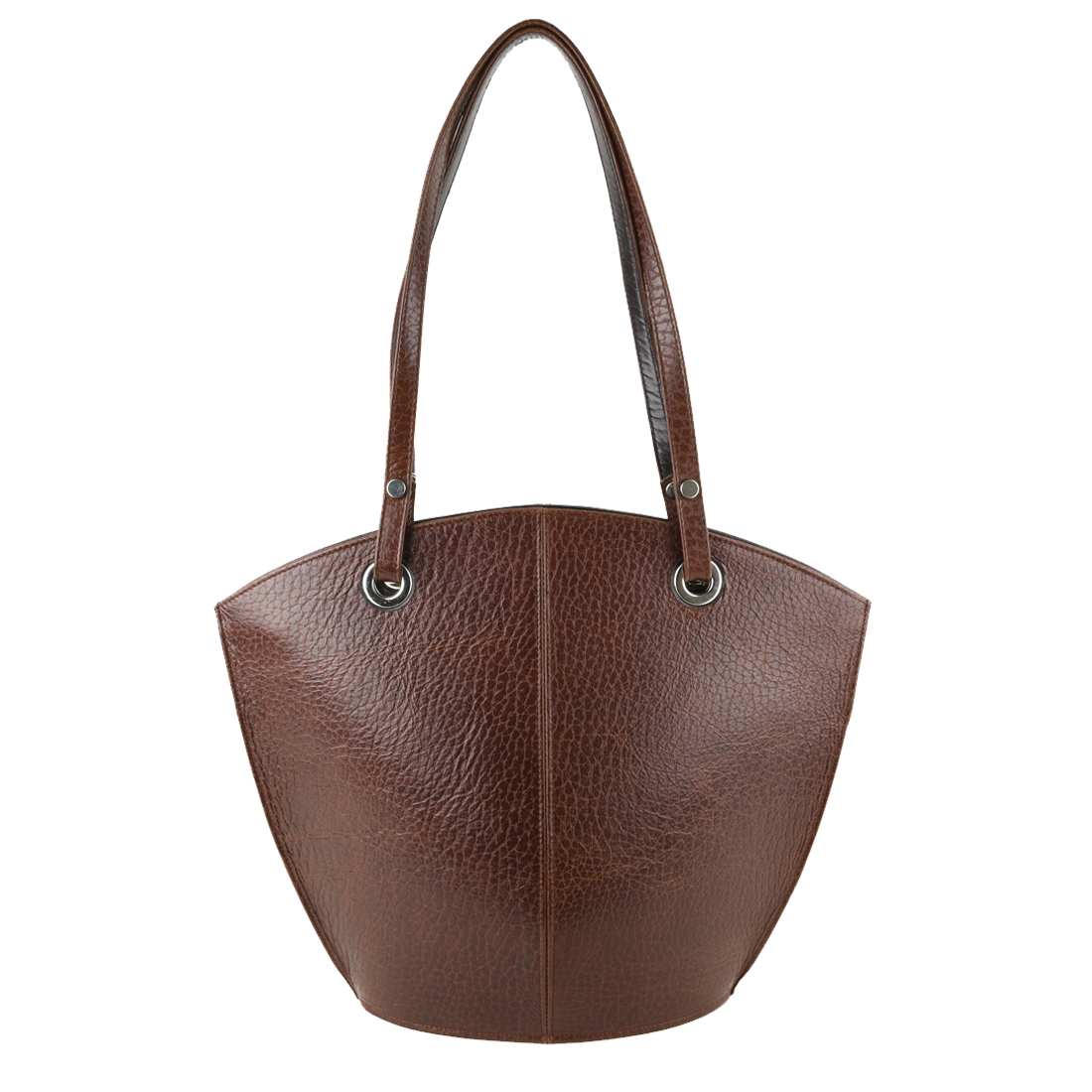 Audrey Dark Brown Leather Tote Bag