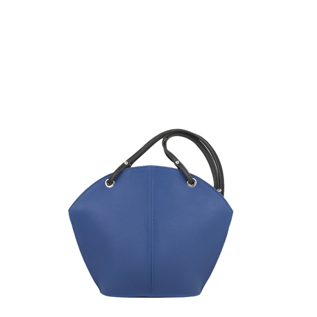 Ava Blue Leather Shoulder Bag