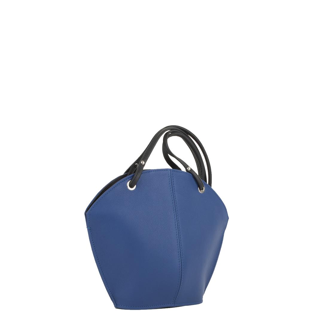 Ava Blue Leather Shoulder Bag