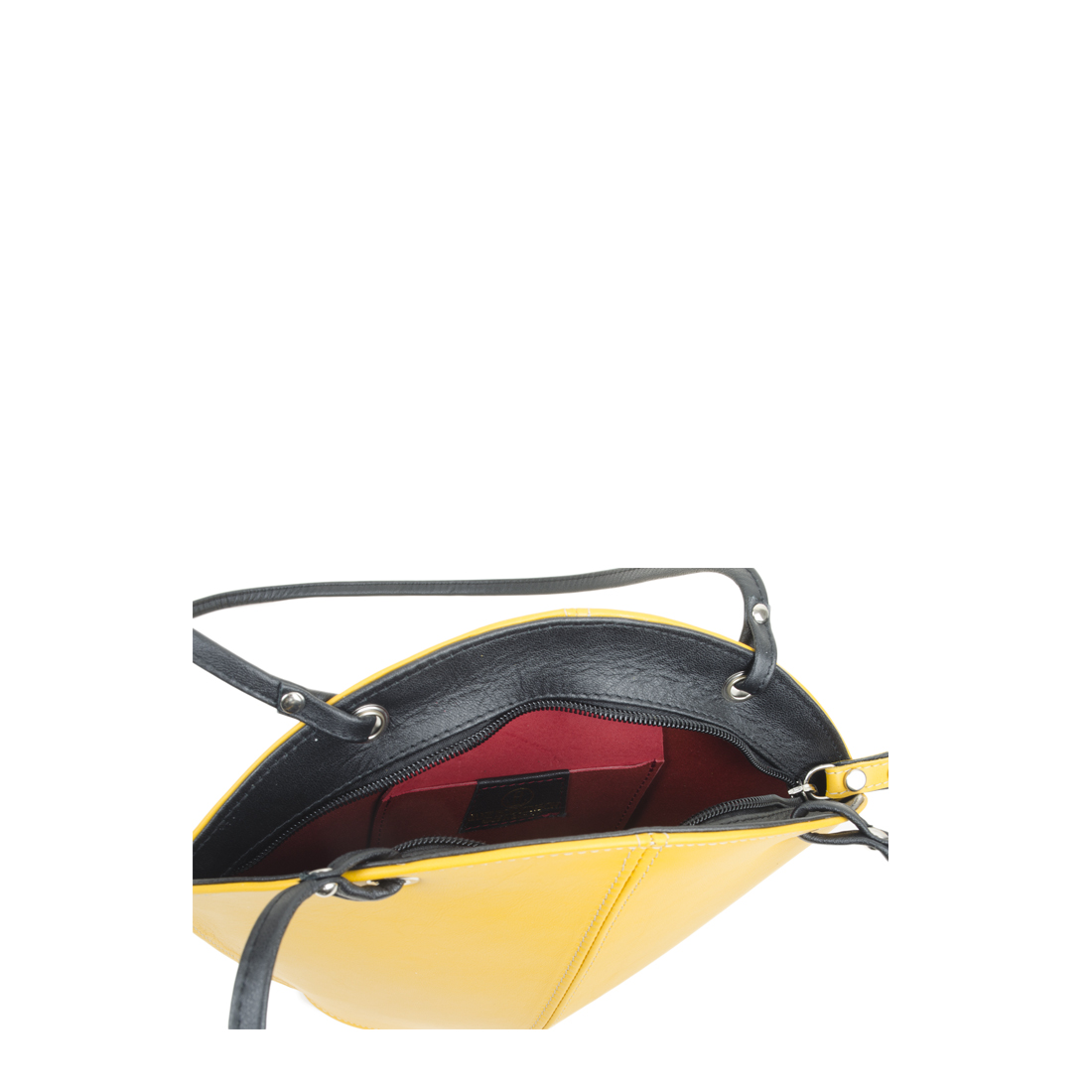 Ava Yellow Leather Shoulder Bag