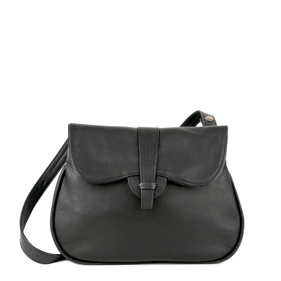 Beth Black Across Body Leather Bag