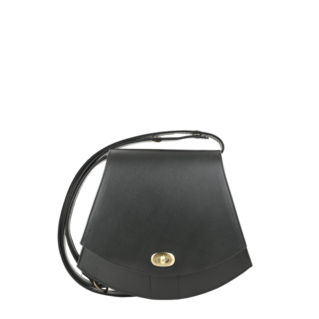 Bonnie Black Leather Shoulder Bag