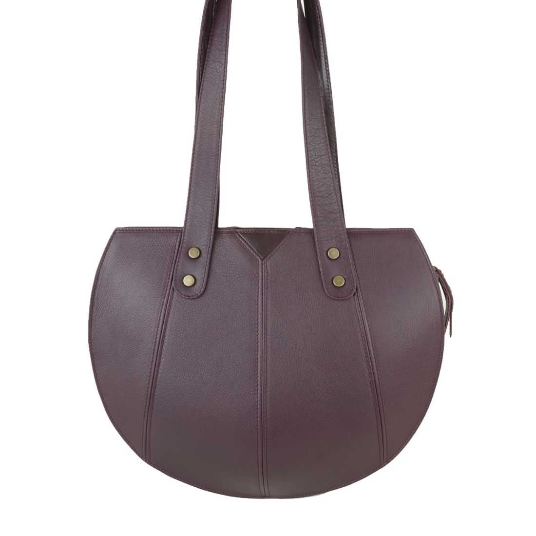 Carrie Bordeaux Leather Shoulder Bag
