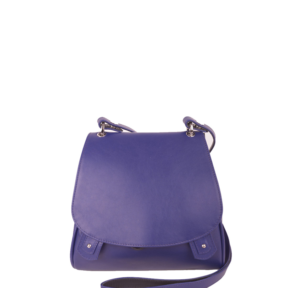 Charlotte Violet Blue Leather Across Body Bag