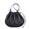 Daisy Black Blue Leather Shoulder Bag