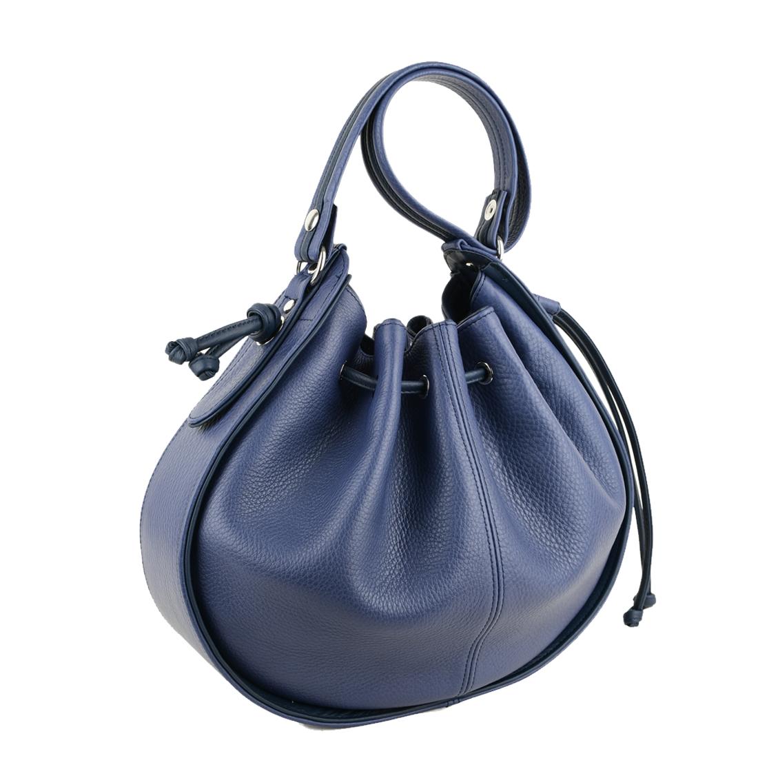 Daisy Chalk Blue Leather Shoulder Bag