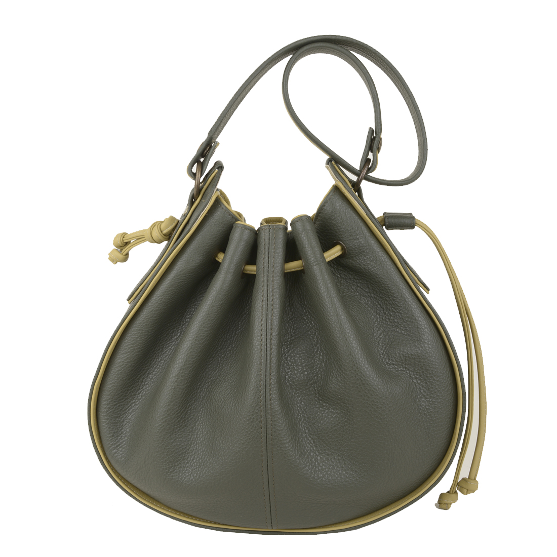 Daisy Loden Lime Leather Shoulder Bag