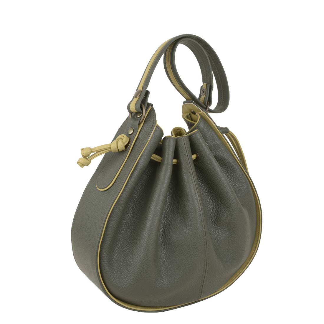 Daisy Loden Lime Leather Shoulder Bag