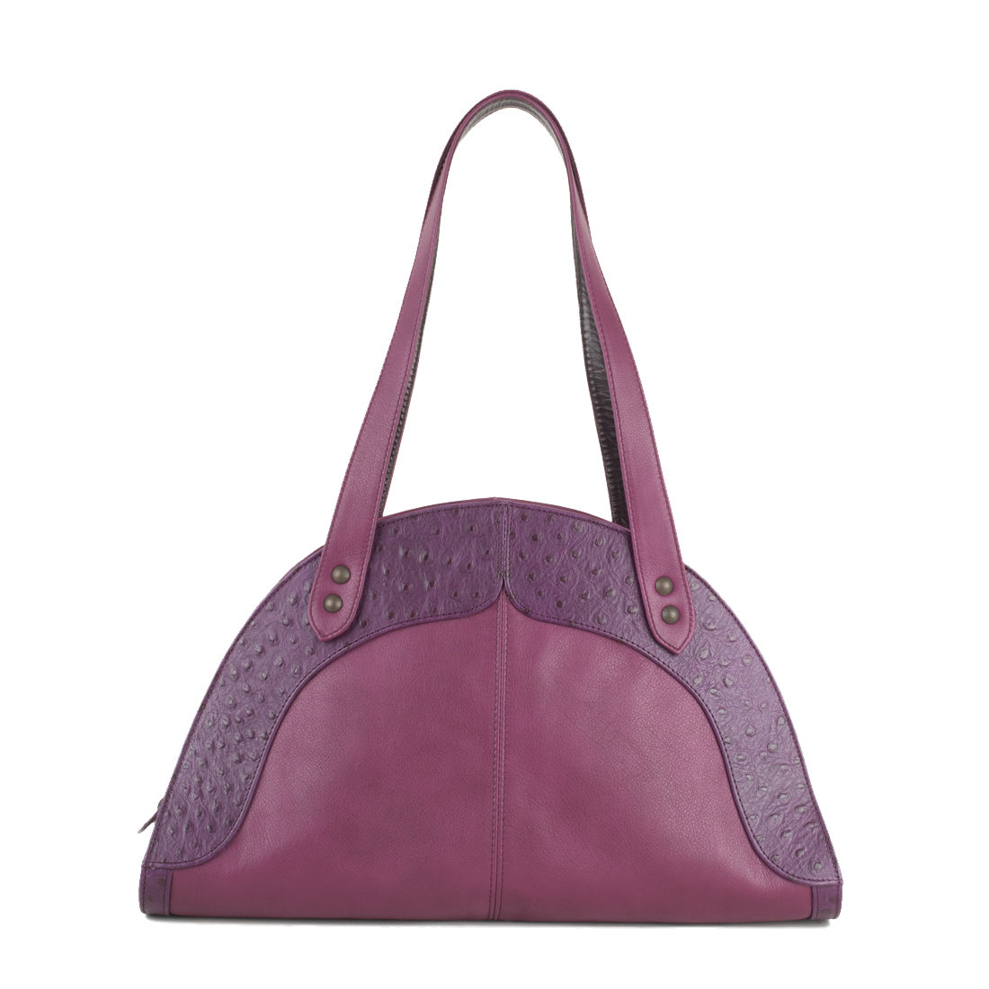 Edie Magenta Leather Shoulder Bag