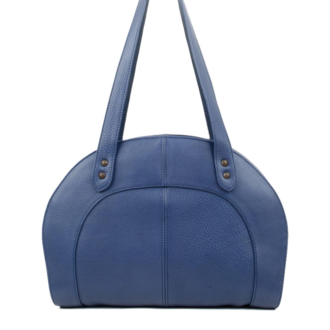 Eliza Chalk Blue Leather Shoulder Bag