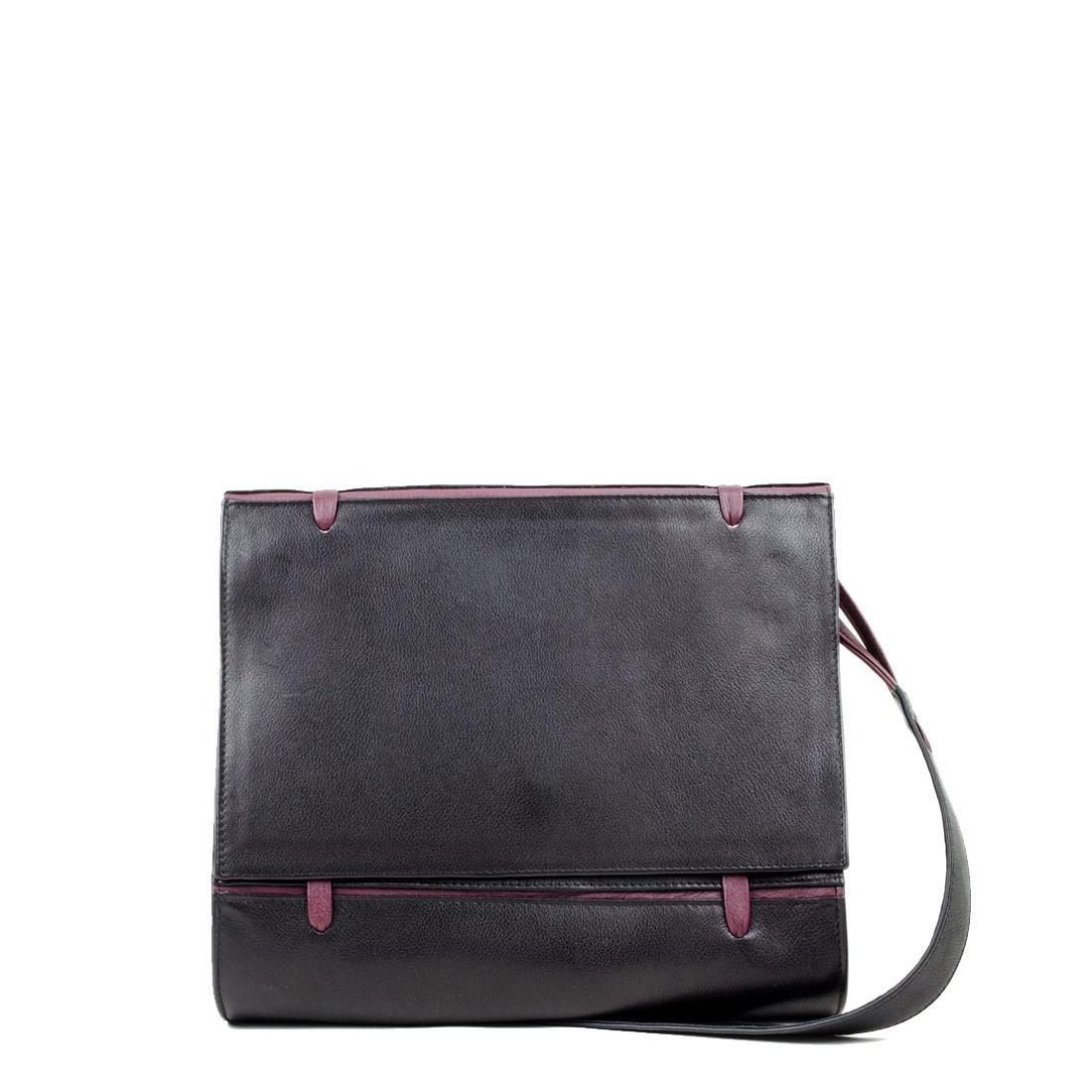 Elsa Black Leather Across Body Bag
