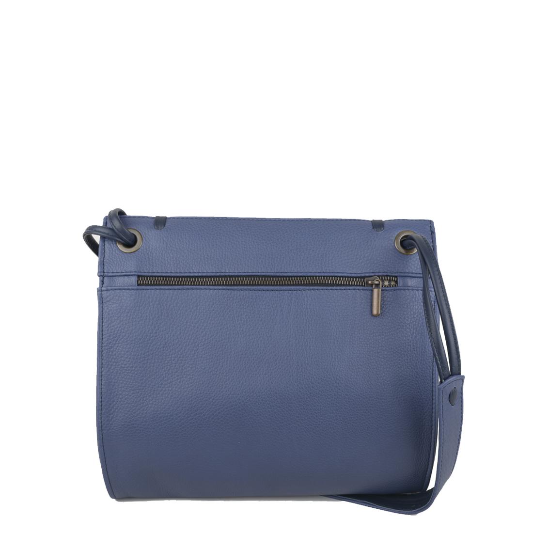Elsa Chalk Blue Leather Across Body Bag