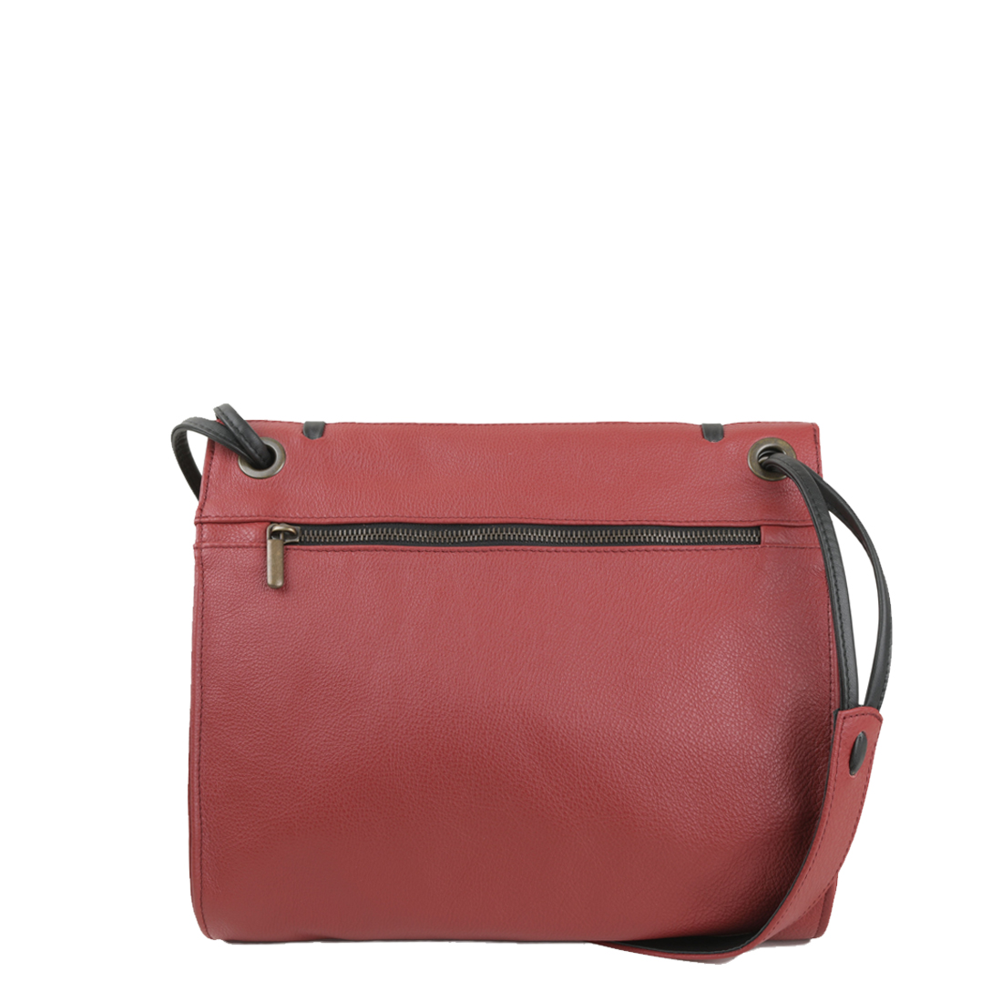 Elsa Red Leather Across Body Bag