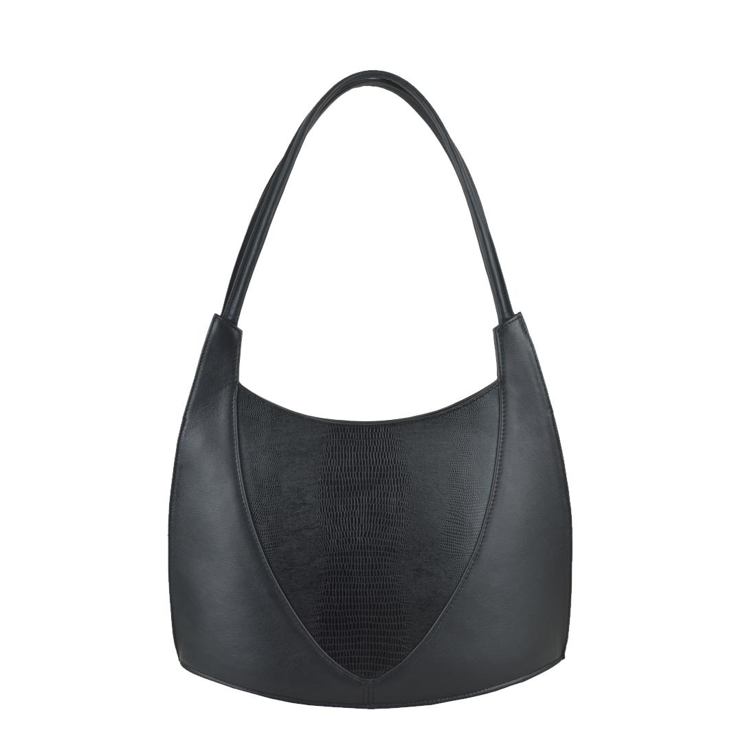 Frieda Black Print Leather Shoulder Bag
