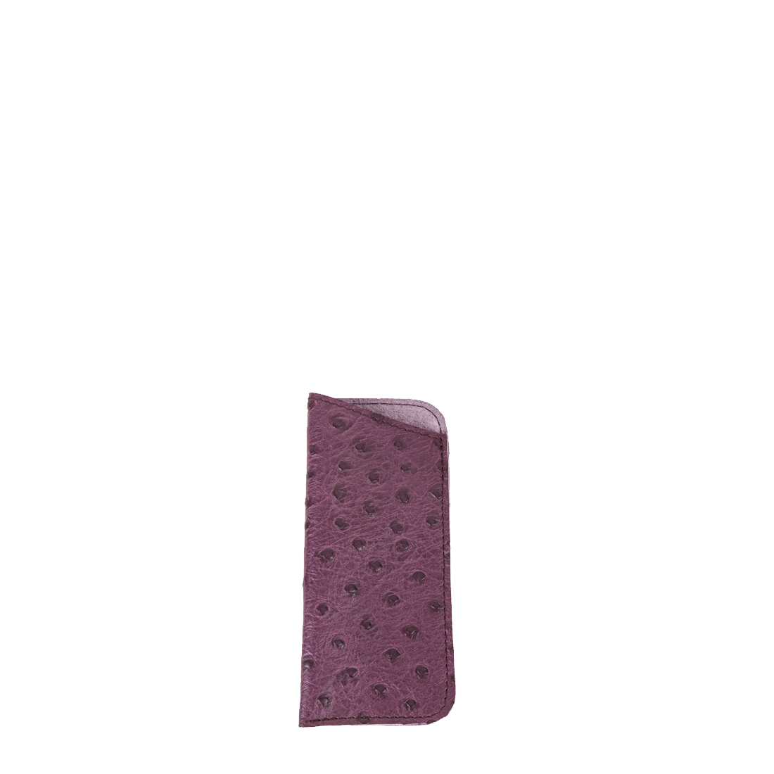 Glasses Case In Magenta Ostrich